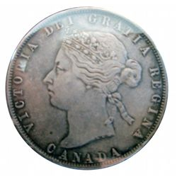 50 cents 1872H EF-40.
