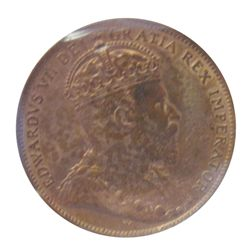 Newfoundland 1 cent 1909 ICCS MS-64; Red.