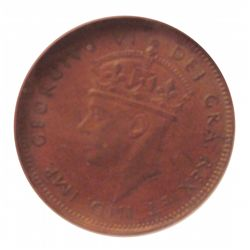 Newfoundland 1 cent 1944 in NGC AU-55; Brown.