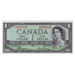 Bank of Canada; 1 dollar 1954 Devil's Face BC-29a Coyne Towers F/A2052134, CCCS UNC-63.