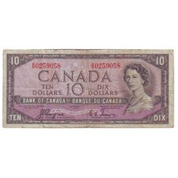 Bank of Canada; 10 dollars 1954 Devil's Face BC-32a in Fine A/D0259058.
