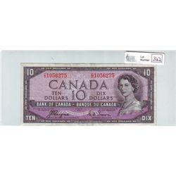 Bank of Canada; 10 dollars 1954 Devil's Face BC-32a in Extra-Fine C/D1056275.