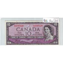 Bank of Canada; 10 dollars 1954 Devil's Face BC-32b H/D2797120 in Very-Fine +.