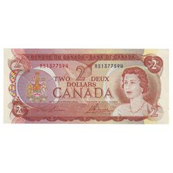 Bank of Canada; 2 dollars 1974 Test Note BC-47aT Lawson Bouey RS1377594 CCCS UNC-63.