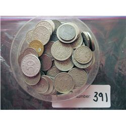 Germany; lot of 90 mainly circulated coins from apx 1900 to 1950, unsearched for better mintmarks, t