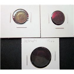 Great Britain 1/3 Farthing 1902 Lustrous UNC, Great Britain 1/2 Farthing 1843 VF-20, Jersey 1/26 Shi