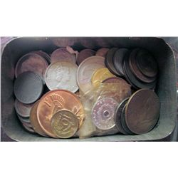 World; lot of 58 coins mainly circulated coins with many in Mint condition including coins that had