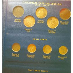 Canadian Type Set Collection In Whitman album; Complete with condition ranging from VG to UNC-64 wit