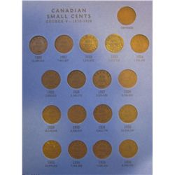 Cent lot; 1920 to 1972 plus 3 extras for obverse in blue Whitman folder. Include 1922, 1923 & 1925,