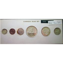 1953; 1 cent MS-63 NSF Brown, 5 cents MS-64 NSF Far Corrosion, 10 cents MS-63 NSF, 25 cents MS-63 NS