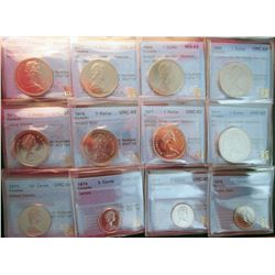 RCM Lot; Proof Like Coin Lot; Includes Dollars, 1968(4), 1975, 1976, 1977(2), 50 Cents, 1975, 25 Cen