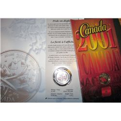 25 cents 2000 January, Pride, Colourized & 25 cents 2001P Canada Day, Colourized. Lot of 2 sets.