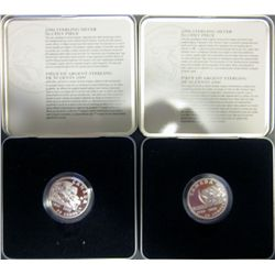 RCM 50 Cents Sterling Silver 2000 Bowling & 2000 Steeplechase. Lot of 2 coins.