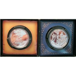 RCM Lot; Bright Uncirculated Silver Dollar 2002 Golden Jubilee and 2004 First settlement. Lot of 2 c