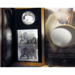 RCM Lot; 2004 $8.00 The Great Grizzly Limited Edition Stamp and Coin set.