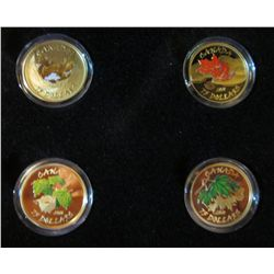 RCM Gold; 2010 Maple Leaf Four Seasons Proof Painted, 14k gold each coin is ,225 Troy ounce for a to
