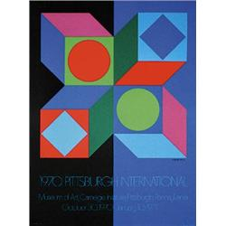 Lot of 6 Vasarely Posters. Vasarely, Victor  1908 - 1997