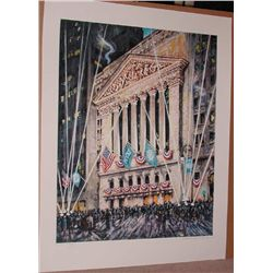 Kamil Kubik, NY Stock Exchange, Signed Serigraph