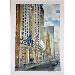 Kamil Kubik, Trinity Church, Signed Serigraph