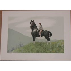 Mel Hunter, Morgan, Signed Lithograph