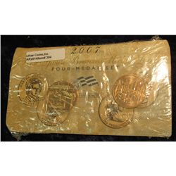 304. 2007 First Spouse Bronze Medal Set:  This four-medal set includes one each of the  1-5/16-inch