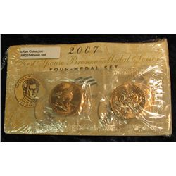 308. 2007 First Spouse Bronze Medal Set:  This four-medal set includes one each of the  1-5/16-inch
