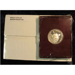 342. U.S. Mint box containing 2005 P & D Original BU Rolls of Bison Nickels Set; & 1982 S Proof Silv