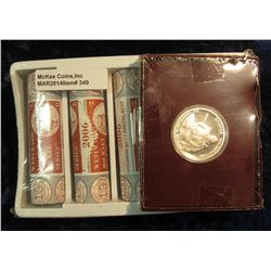 "349. U.S. Mint box containing (2) 2006 P & (2) D Original BU Rolls of ""Jefferson Reverse Head Nickel"