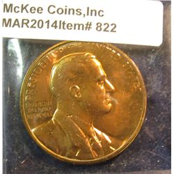 822. Franklin Delano Roosevelt Inauguration Medal – bronze, produced by US Mint