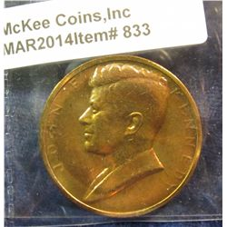 833. John F. Kennedy Inauguration Medal – bronze, produced by US Mint