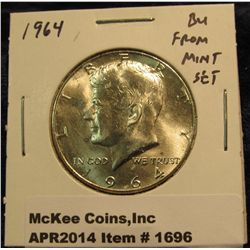 1696.   1964 Kennedy Half BU from Mint Set
