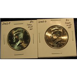 1700.   2 Kennedy Halves from mint sets – 2003-P & 2003-D