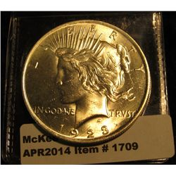 1709.   1923 Peace Dollar BU MS63+