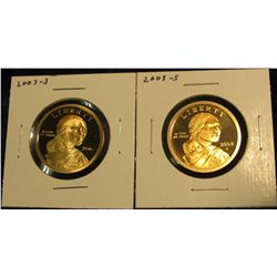 1770.   2 Proof Sacagawea Dollars – 2007-S & 2008-S