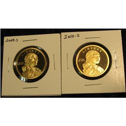 1771.   2 Proof Sacagawea Dollars – 2009-S & 2010-S