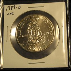 1779.   1989-D Bicentennial of Congress BU Commemorative Half Dollar
