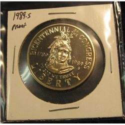 1780.   1989-S Bicentennial of Congress Proof Commemorative Half Dollar