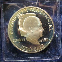 1781.   1990-P Eisenhower Proof Commemorative Silver Dollar