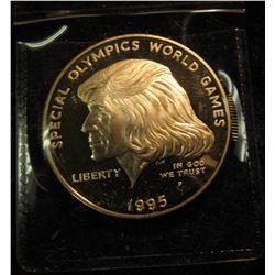 1782.  1995-P Special Olympics Proof Commemorative Silver Dollar