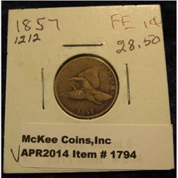 1794. 1857 U.S. Flying Eagle Cent. G-4.
