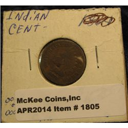 1805. 1879 Indian Head Cent. G-4. Small obverse dig.
