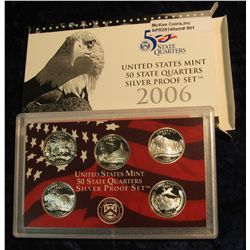 901.  2006 SILVER State Quarters Proof Set – in original packaging as issued