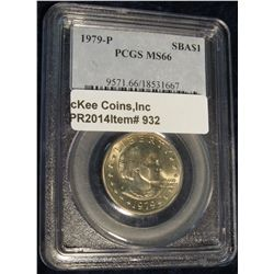 932.  1979-P Susan B. Anthony Dollar graded MS65 by PCGS