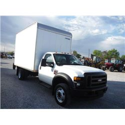 2008 FORD F550XL CARGO VAN, S/N 1FDAF56R08EC52315 , 6.4L INTERNATIONAL DIESEL, A/T, CARGO BODY, LIFT