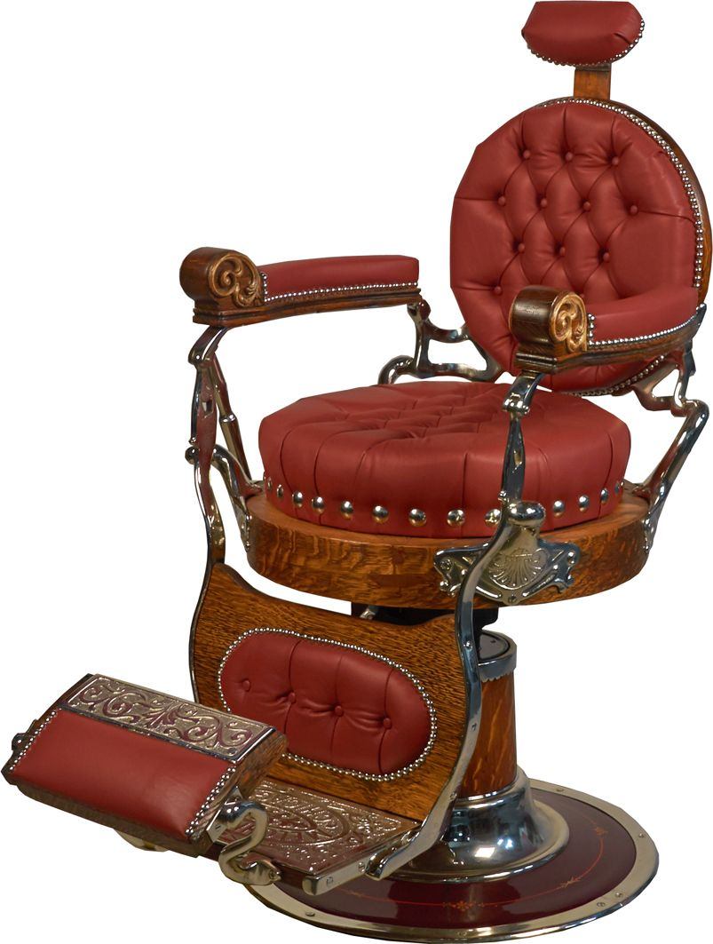 Antique Melchior Bros. Chicago Round Seat Barber Chair. Loading zoom - Antique Melchior Bros. Chicago Round Seat Barber Chair