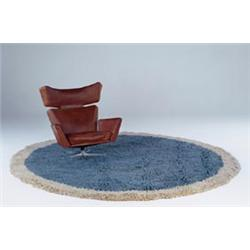 Arne Jacobsen Rug From The Danish National Bank Copenhagen 1980 Handmade By