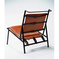 jacques adnet chair ca in with hermes metal with leather strap
