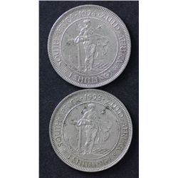 South Africa Shillings 1923 & 1924 Extremely Fine
