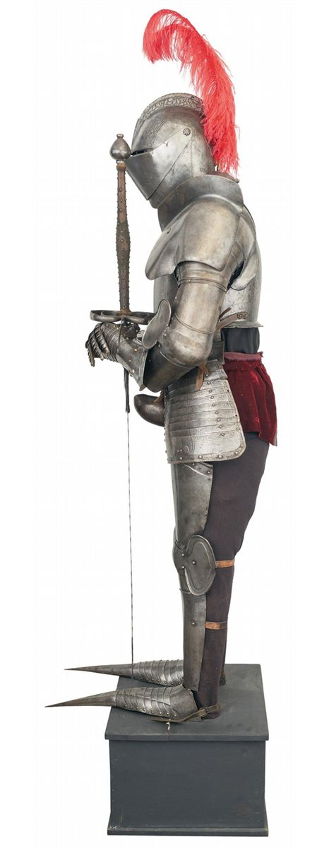 Composite Suit of Armor in the 16th Century Northern Italy Pisan Style