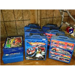 lot of 8 hot wheels totes approx. 700 cars in them
